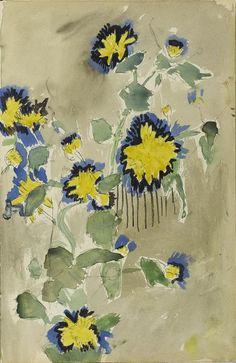 L'œuvre Fleurs - Centre PompidouAndré Derain (1880 - 1954)  Fleurs vers 1904 - 1906 Encre de Chine, aquarelle, gouache sur papier 29,7 x 19,4 cm