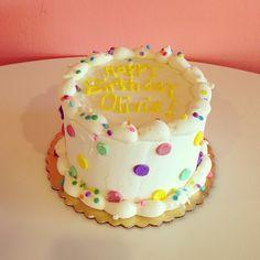 Polka Dot Birthday Cake / 2tarts Bakery / New Braunfels, TX / www.2tarts.com