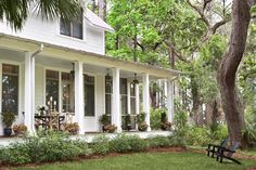 Back porch | LB Palmetto Bluff | Linda McDougald Design