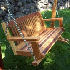 Cabbage Hill Wooden Porch Swing at Brookstone—Buy Now!