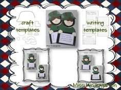Soldier Boy and Girl- Craft and Writing Templates product from MissKindergarten on TeachersNotebook.com