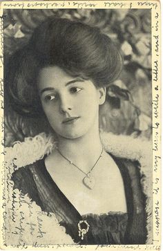 Evelyn Nesbit, rare photo, gorgeous lady; pm 1906, from Norway; VG, writing on face