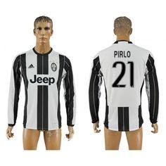 Juventus 16-17 #Pirlo 21 Hjemmebanetrøje Lange ærmer,245,14KR,shirtshopservice@gmail.com