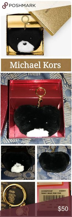 NIB Michael Kors Teddy Bear Pom Pom The hardest to resist trend in accessorizing is the fur key chain, an instant refresh for everyday carryalls and beloved totes. Michael Kors sweetened the style in the form of this teddy bear version to make the look extra playful and extra chic. This accent piece makes for a fun outfit transformer and perfect gift.  ? Rabbit Fur? ? Gold-Tone Hardware? ? Imported? ? Includes Michael Kors Gift Box  Excellent condition.  Never used.  Smoke free home. LOC CL9…
