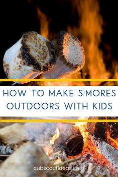 Learn how to make s'mores outdoors with kids on the campfire during your next campout. Keep your Cub Scouts safe around the fire as they make these easy classic treats. Cub Scout Activities, Fun Activities, Router Wood, Wood Lathe, Cnc Router, How To Make S, Arrow Of Lights, Cheap Games, Games For Boys
