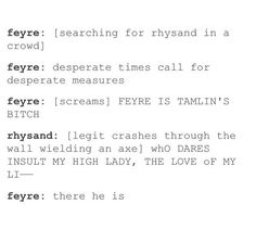 I totally see this happening! Hehe I love Rhys