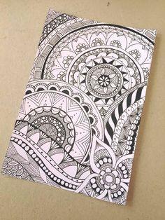 Sharpie art diy creativity 15 new ideas Doodle Art Drawing, Mandalas Drawing, Zentangle Drawings, Cool Art Drawings, Pencil Art Drawings, Zentangle Patterns, Easy Drawings, Zentangles, Drawing Ideas