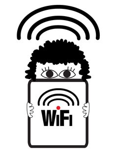 Does your library have wifi? So many mobile devices, so little wifi (when you need it). Big Eyes, Wifi, Character, Lettering