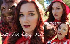Part 1 | Couples Halloween Costume | Little Red Riding Hood: Makeup, Hai...