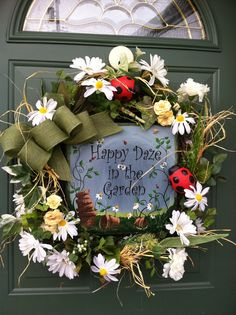Wreaths by Cherie on Facebook - please come see my page - this wreath sells for only $45