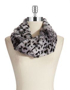 Jewelry & Accessories   Cold Weather   Leopard Print Cowl Scarf   Lord and Taylor