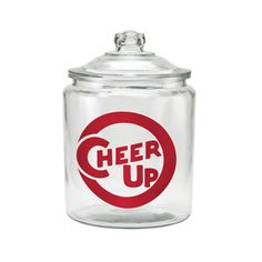 Cheer Up Pastry Display Jar $25 http://www.dotandbo.com/collections/local-flavor-coffee-house-hip/20689-cheer-up-pastry-display-jar