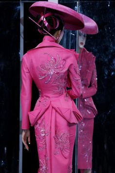 Dior--think I just found my Ascot outfit--want some stunning robin's egg blue shoes to go with it!