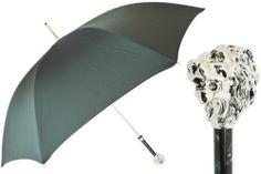 Luxurious Designers Men / Gentleman's Winter Rain Umbrella w/ Lion Head Handle