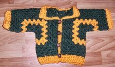 free crochet pattern for Baby Cardigan - sweater - cute- granny squares, so cool!