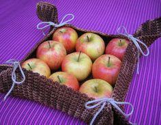 DIY Crochet fruit basket, easy storage solution/ Canasta para fruta en gancho, hazlo tú mismo