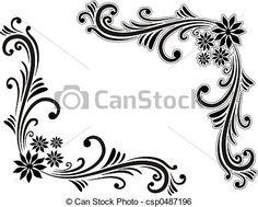 corner-decoration-stock-illustration_csp0487196.jpg (450×362)