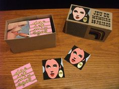 We just got in some new zines by Julie Doucet, including her Der Stein series! And (gasp) this gorgeous silkscreened matching game. Matching Games, Zine, News, Memory Games