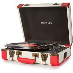Vitrola Portátil Crosley CR-6019A-RE Executiva Vermelha -Eletrônicos - Toca discos - Walmart.com