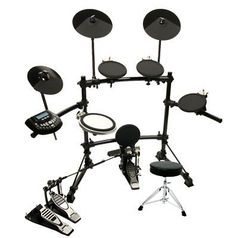 DKX-580 USB Digital Electronic Drum Set w/ Double Bass Pedal - Throne by DKX. $503.99. DKX-580 Premium Electronic Drum Kit with Double Kick Pedal and Drum ThroneThe DKX-580 is a 5 piece digital drum kit that carries features of high-end kits at a fraction of the cost. Choose from one of the 50 preset kits, or using the 418 voices, you can create up to 30 customized user kits. The DKX-580 features 3 dual-zone tom pads and a triple-zone snare pad plus 2 chokeable dual-zo...