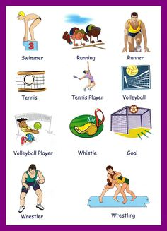 Sport vocabulary with images to share - Google Search
