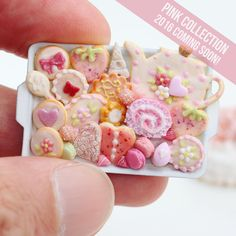 """We will be launching this year's """"Pink Collection"""" soon! Over the next few days we'll be giving you a sneaky peek at some of the 70+ miniatures we've made for you this year! www.parisminiatures.etsy.com"""