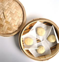 Tofu and Mushroom Steamed Buns (Bao) Recipe- filling looks good and so does dipping sauce - dough doesn't seem as good as others