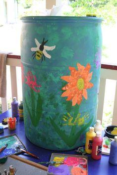 before and after rain barrel - great gift idea! http://mommyfootprint.com/school-or-teacher-year-end-gift-rain-barrel/