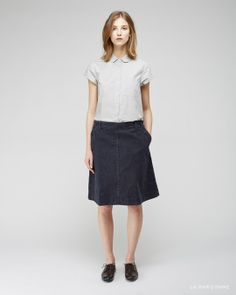 MHL by Margaret Howell / Round Collar Shirt MHL by Margaret Howell / Sailor Skirt Jil Sander / Oxford