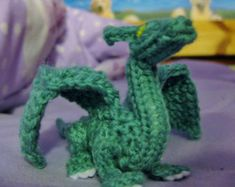 Craft Your Own Palm-Sized Dragon knit and crochet by CraftyMutt