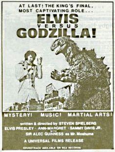Elvis contra Godzilla.