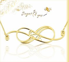 Belleza y estilo en el símbolo del amor Infinito. http://www.joyas4you.com/collar-infinito/718-collar-remolino-infinito-con-iniciales-en-plata-chapada-en-oro-de-24k.html
