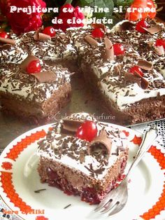 » Prajitura Regina MariaCulorile din Farfurie Fancy Desserts, No Bake Desserts, Delicious Desserts, Sweets Recipes, Cake Recipes, Focaccia Bread Recipe, Good Food, Yummy Food, Banana Bread Recipes