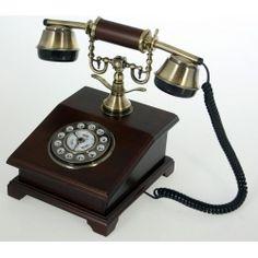 TELEFONO MADERA #telefono #madera #replica #estilo #antiguo #vintage #asvtiendadecoracion