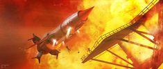 Thunderbird 1 - Firebird by Chrisofedf Fan Art / Digital Art / Art / TV & Movies Best Series, Best Tv Shows, Thunderbird 1, Thunderbirds Are Go, Firebird, Sci Fi Art, Fighter Jets, Deviantart, Miraculous Ladybug