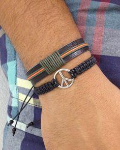 pulseiras-masculinas-paz-e-couro-bijuterias