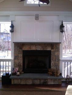 above fireplace tv cabinet - Google Search | Fireplace | Pinterest ...