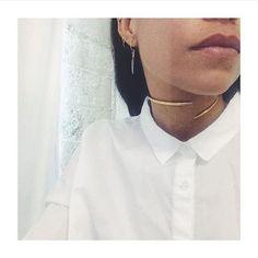 Jewels: anita k gold collar choker necklace 18k necklace nastygal gold choker minimalist jewelry