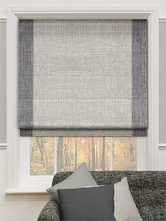 MUM DAD - Caldicot Woven Grey Roman Blind from Blinds 2go