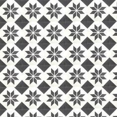 star decoration cement tile - black and white cement tile - ceramic tile Tile Patterns, Textures Patterns, Entry Tile, Diy Tableware, Stenciled Floor, Encaustic Tile, House Tiles, Tiles Texture, Star Decorations