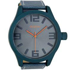 Ρολόι Oozoo Timepieces 50mm Blue Case & Leather Strap - C6402 - http://rologia.org/%cf%81%ce%bf%ce%bb%cf%8c%ce%b9-oozoo-timepieces-50mm-blue-case-leather-strap-c6402/