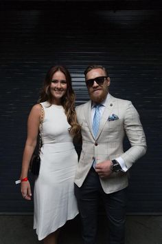 Conor mcgregor with long-term girlfriend dee devlin (image: Mcgregor Suits, Conor Mcgregor Style, Ufc Conor Mcgregor, Connor Mcgregor, Connor Suits, Dee Devlin, Notorious Conor Mcgregor, Dapper Suits, Gentleman Style