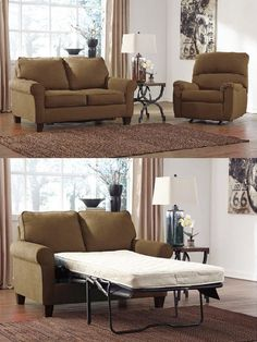 Living Room Decor on a Budget: Zeth Twin Sleeper by Ashley Furniture at Kensington Furniture for $499.99