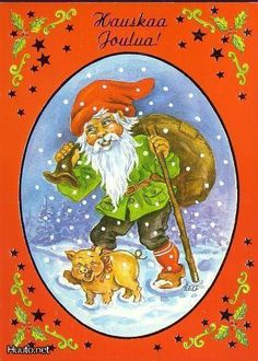 ˇˇ Christmas Printables, Christmas Cards, Elves And Fairies, Winter Scenery, Folklore, Grinch, Scandinavian, Decoupage, Fairy