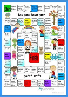 Boardgamre:Has Got & Have Got worksheet - Free ESL printable worksheets made by teachers
