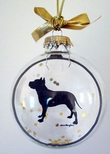 American Staffordshire Terrier Pit Bull Ornaments
