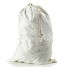 95a55553a4 Amazon.com  LoopsLiving Extra Large Cotton Laundry Bag with Grommets and  Drawstring Closure  Home   Kitchen