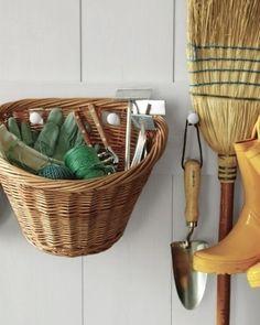 bike basket as potting shed storage via Gardenista