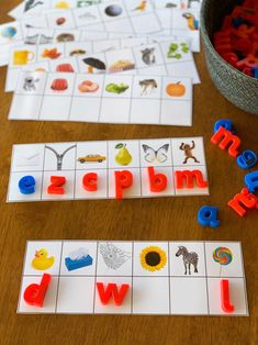 Printable Initial Sounds Match Cards - ready to print these cards are perfect for children learning the beginning letter sounds in words. Great activity for Word Work or literacy center stations Letter Sound Games, Letter Sound Activities, Eyfs Activities, Preschool Learning Activities, Alphabet Activities, Kids Learning, Learning Spanish, Activities For Children, Teaching Resources