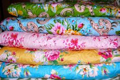Whole Cloth Quilts for sale made with Circa Fabric..Only twins available currently! $400.00 each